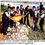 Swatchchta Campaign at Anjapura Dam by KRCS students.